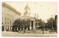 RPPC Courthouse Trolley CHAMBERSBURG PA Laughlin Franklin Co Real Photo Postcard