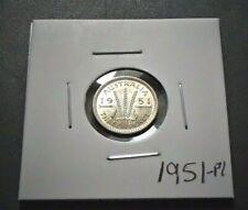 1951-PL Australia Uncirculated Silver 3d Threepence Coin - George VI - 365a