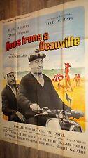 louis de funes NOUS IRONS A DEAUVILLE ! affiche cinema scooter vespa