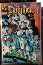 LADY DEATH THE CRUCIBLE 1/2-NM/MT-UNREAD-COA-WIZARD/CHAOS! COMICS-FREE 1ST CL SH