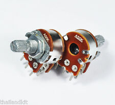 3 pcs Alpha 50KA/ A50K/ 50K Dual Logarithmic/Audio Pot Potentiometer 15mm 1/4W