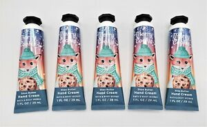 Bath and Body Works Merry Cookie Hand Cream Lotion, (Set of 5)
