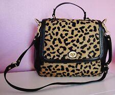 NWT COACH PARK Haircalf Leopard FLAP Shoulder Tote Handbag ~RARE & AUTHENTIC~