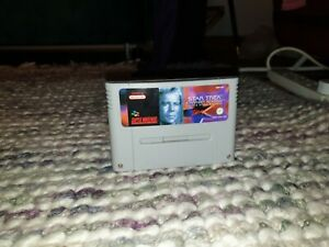 Star Trek Starfleet Academy Super Nintendo SNES Cartridge PAL