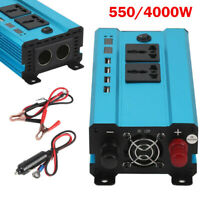 Blue 550/4000W Car Inverter Power Car LED Solar Power Sine Wave USB Converter
