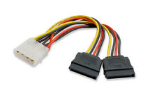 IDE to dual SATA II 15p Y Splitter 10cm hard disk Power supply Extension Cable