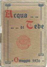 """Calendarietto da Barbiere  """"Acqua di Tebe"""" 1926 Genova - Damiano Editore Milano"""