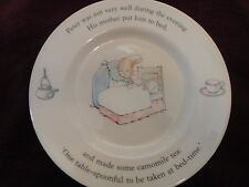 Wedgwood Child's Plate Beatrix Potter Peter Rabbit England 7 Inch Plate