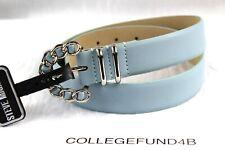 STEVE MADDEN Woman's Belt Size Medium Blue Chain Buckle Retail $34
