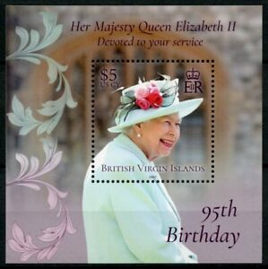 BVI Royalty Stamps 2021 MNH Queen Elizabeth II 95th Birthday 1v M/S