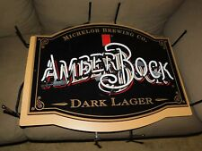 Michelob Amber Bock Beer Neon Light Up Sign Anheuser Busch Dark Lager Very Rare