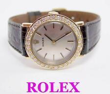 14k ROLEX Winding Ladies Watch w 1ct Diamond Bezel* Ref 8332* EXLNT* SERVICED
