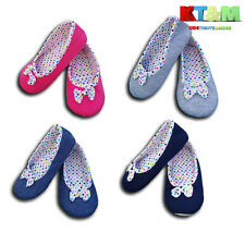 Girls Women Ballet Ballerina Slippers Small Bow Soft Size 7 Child to 7.5 Adult