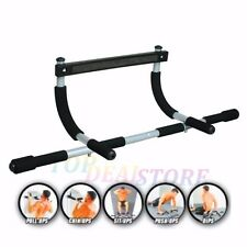 Portable Chin Up Bar Home Doorway Wall Mounted Pull Up Dip Abs Exercise