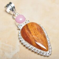 "Handmade Arizona Petrified Wood Jasper 925 Sterling Silver Pendant 2.25"" #P11366"