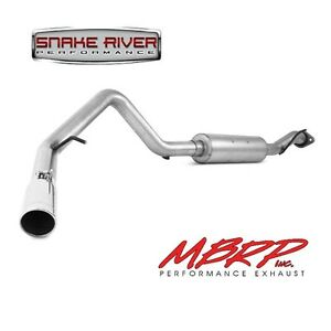 MBRP EXHAUST 00-06 CHEVY TAHOE GMC YUKON 5.3L CAT BACK SINGLE SIDE ALUMINIZED