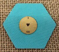 """Authentic Origami Owl Medium Gold """"I Love 02"""" Plate"""