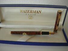 Waterman Exclusive Fountain Marble Brown Laque Gold M  IDEAL 18Kl 750