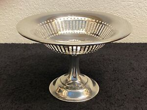 Vintage Pierced Sterling Silver Compote/Candy Dish