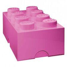 LEGO STORAGE BRICK 8 BLOCK DARK PINK NEW LARGE - KIDS TOY STORAGE L4004P