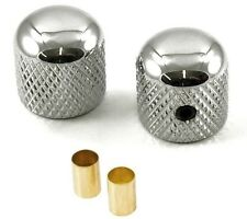 "FENDER TELECASTER STYLE TELE GUITAR DOME KNOBS CHROME (SET OF 2) *NEW* 1/4"" 6MM"