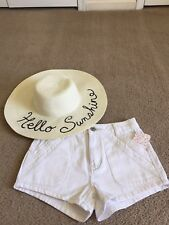 NWT* FREE PEOPLE Sweet Surrender White Denim Shorts Size 28