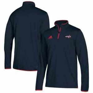 adidas Men Washington Capitals Climalite Quarter-Zip PO Jacket(Navy)Sz S,M, 2XL