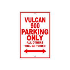 KAWASAKI VULCAN 900 Parking Only Towed Motorcycle Bike Chopper Aluminum Sign