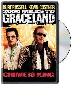 Brand New DVD 3000 Miles to Graceland (Keepcase) Kurt Russell Kevin Costner