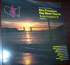 """San Francisco Gay Men's Chorus Tours America '81 LP 33/12"""" Dick Kramer"""
