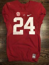 Game Worn Used 2016 Alabama Crimson Tide Bama Football Jersey Nike Size 42 #24