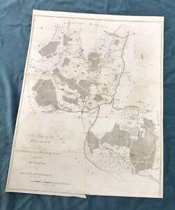 KENT 1797, Hundreds of BRENCHLEY HORSEMONDEN WEST BARNFIELD, Antique Map, HASTED