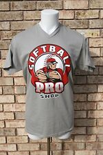 SOFTBALL PRO XL- V-NECK T-SHIRT-4 COLOR SCREEN PRINT