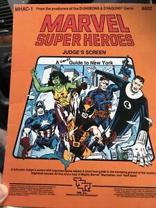 Marvel Super Heroes: Judge's Screen A Hero Guide to New York MHAC-1 TSR