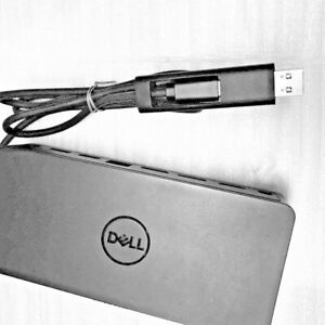 Dell D6000 USB-C/USB 3.0 Docking Station - Black