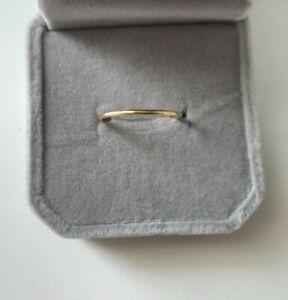 14k Yellow Gold 1.2mm Plain Band Ring Size 5.25 Uk K