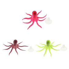 Aquarium Decorations,Glowing Silicone Artificial Octopus,Silicone Aquarium