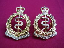 RAMC Officers Collar Badges Royal Army Medical Corps