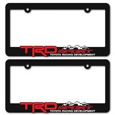 Trd Sport License Plate Frames Toyota Trd Tacoma Tundra 4runner Rav4 Highlander