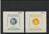 colombia 1949 lightly mounted mint imperf  large  stamps ref r11057