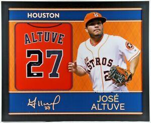 JOSE ALTUVE Signed Houston Astros Framed Jersey 35x43 (JSA Hologram)