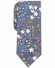 BAR III Men's Navy Blue Whimsy Floral Print Neck Tie Skinny Accessory $55 281