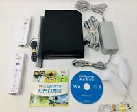 Nintendo Wii Sports Video Game Console Bundle Black System - CLEANED & Tested!!