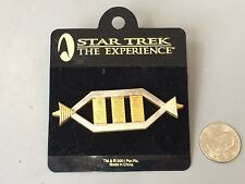 RARE STAR TREK THE EXPERIENCE GOLD AND SILVER METAL PIN NEW 2001 LAS VEGAS