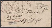 39220) KONITZ Westpreußen ca. 1850 Dienstbrief mit Beamtenstempel