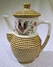 Vintage Tilso Hand painted Rooster  Teapot