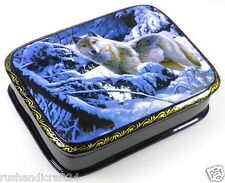 Loup solitaire lackmalerei LACKDOSE Fedoskino Russian lacquer box Fedoskino
