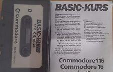 BASIC-Kurs C 16, C116, Plus 4 Cassette (Tape + Anleitung) 100 % ok
