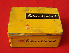 OLD VINTAGE ENTRO QUINOL TABLETS TIN BOX , INDIA