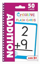 NEW 50 Addition Flash Cards Kindergarten First Grade Teaching Materials Ages 5+